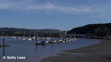 Boats in the river at Conwy