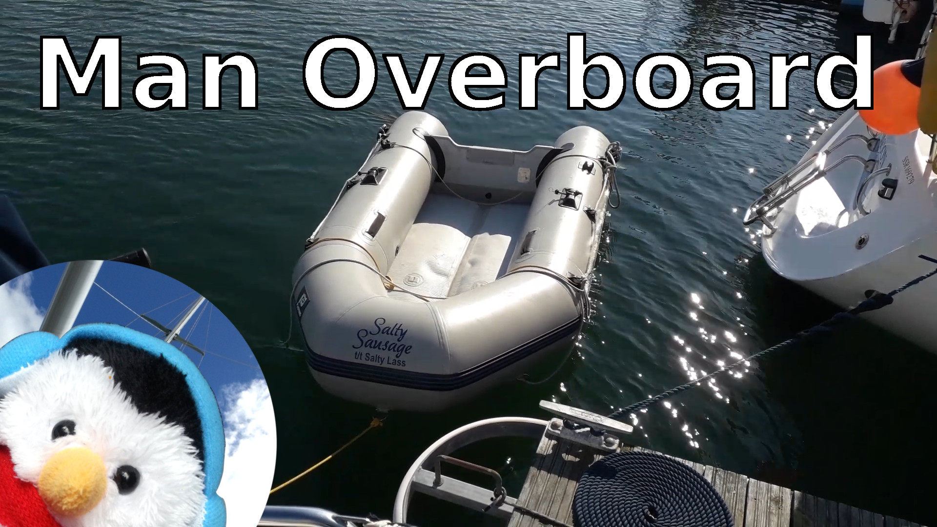 "Watch our ""Man overboard preparation"" video and add comments"