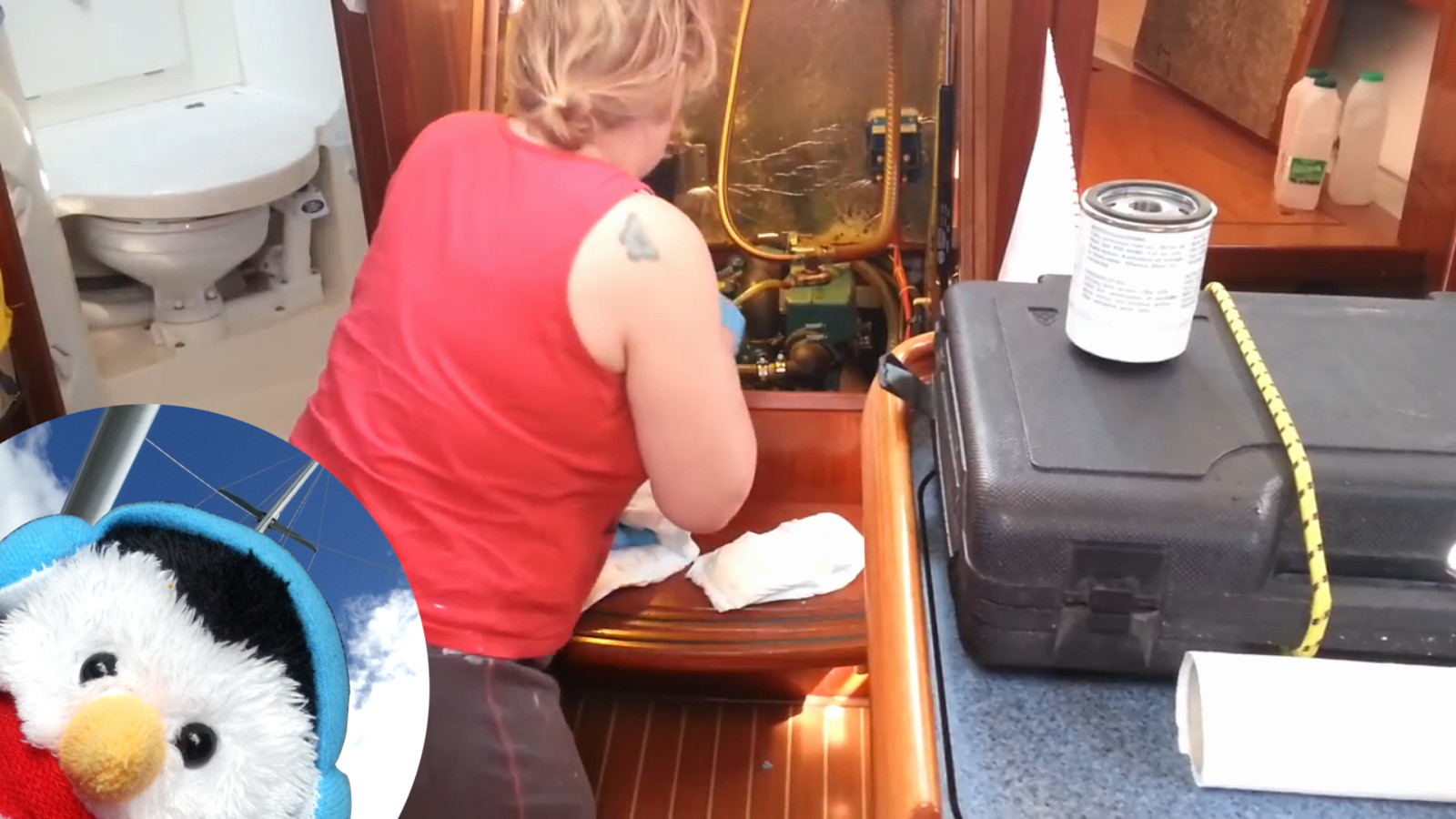 Watch Servicing our Volvo Penta Oil and Diesel in full screen mode and add comments etc.