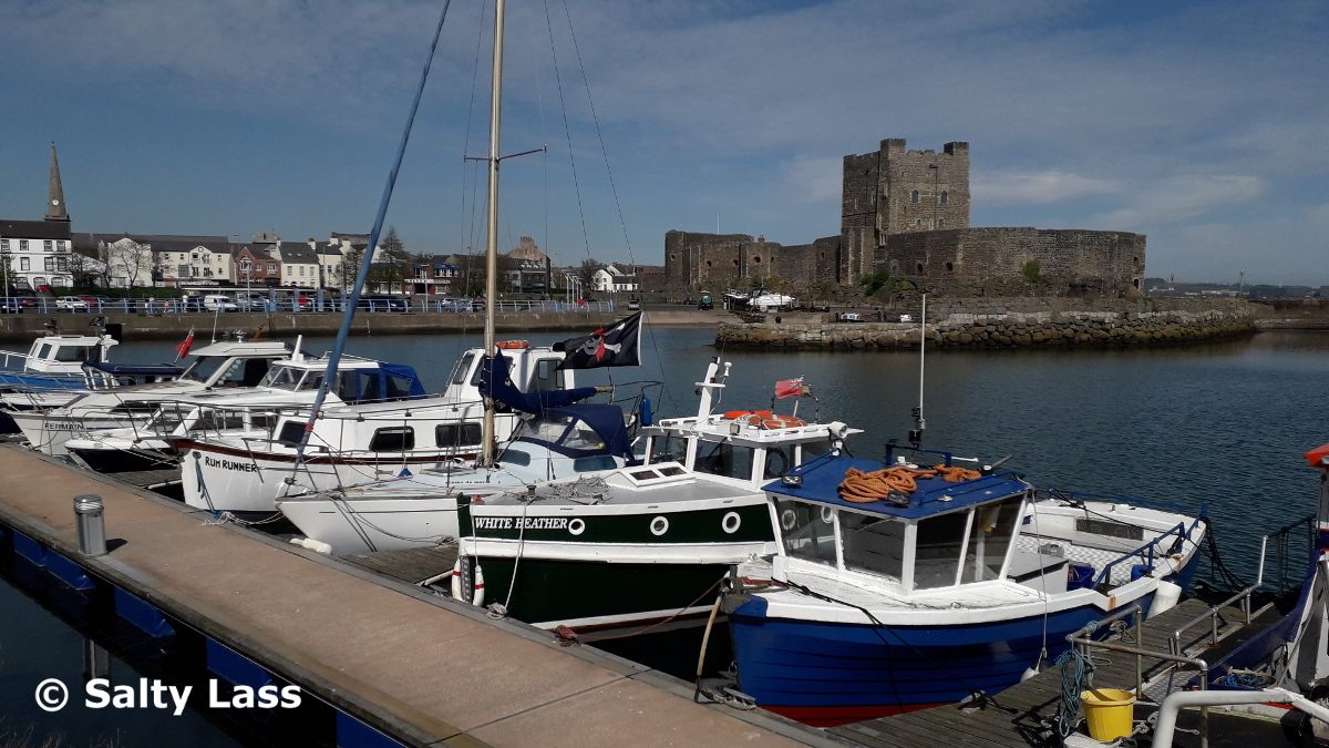 Carrickfergus Marina and some boats in the harbour