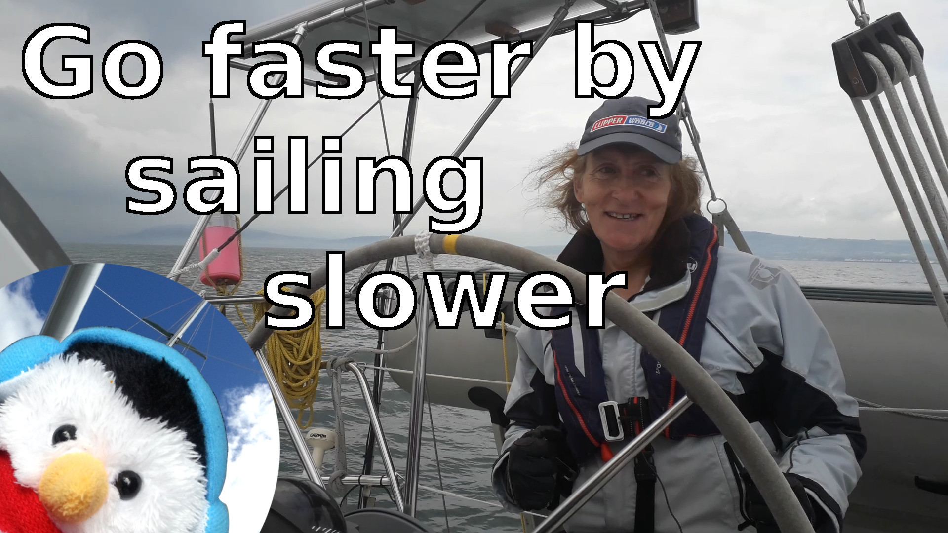 "Watch our ""Go faster by sailing slower"" video and leave comments etc."
