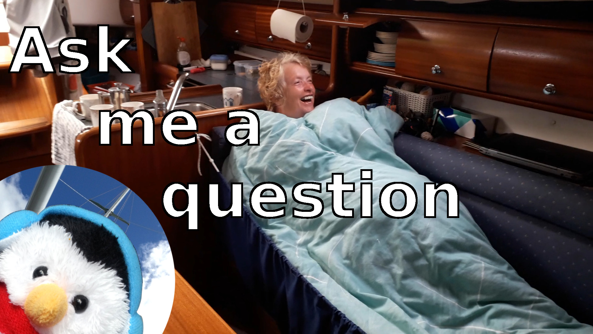 "Watch our ""Ask me a question"" video and put comments down below"
