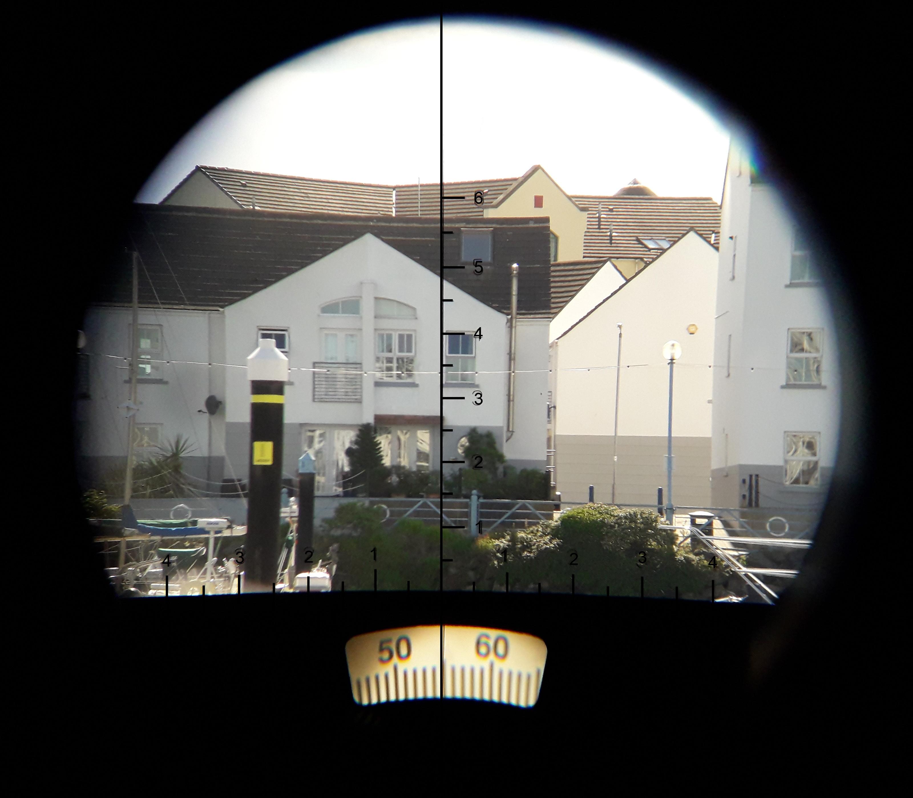 Inside our binocular eyepiece