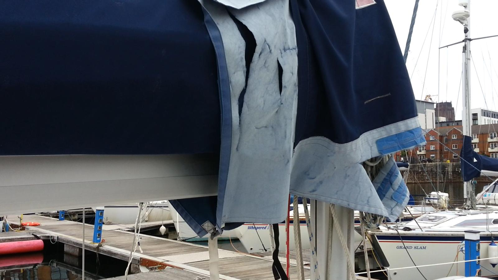 Sail bag in need of repair